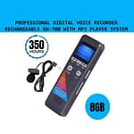 Professional Digital Voice Recorder 8GB with MP3 Player