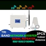 Network Booster Led Display GSM 900 Mhz 2G 3G 4G Mobile Phone Signal Repeater