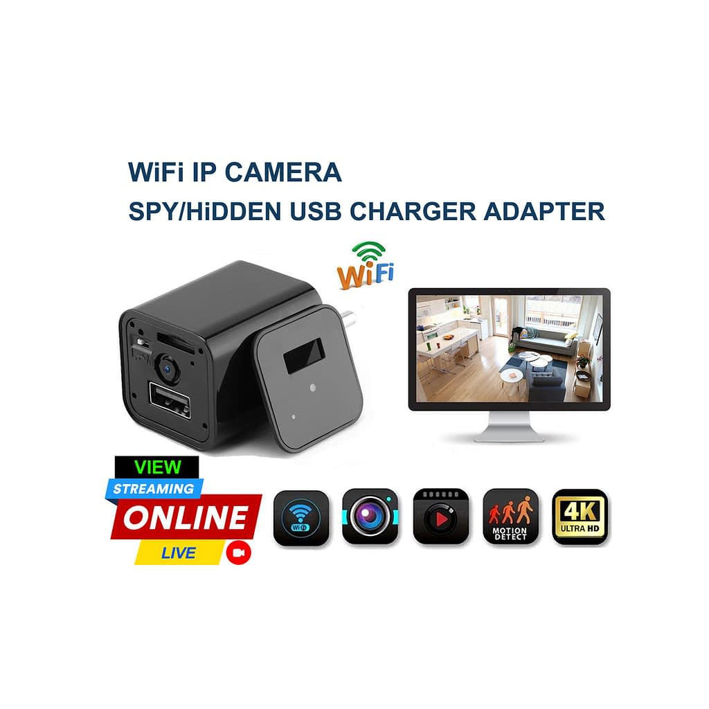 Spy Camera 4K USB Charger Adapter Hidden Live Wifi IP Camera | Sale Market BD