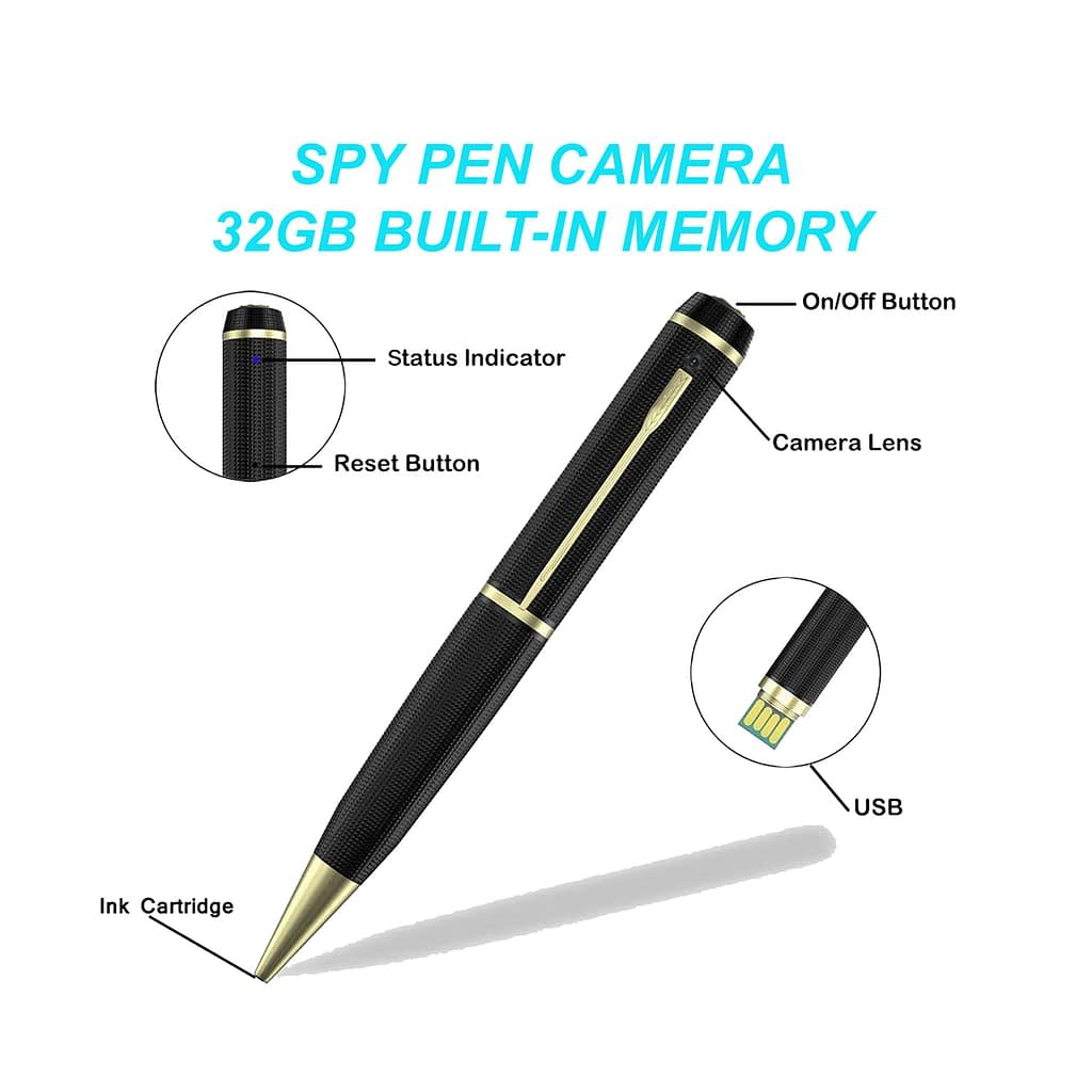 Spy Camera Pen 32GB Memory with Voice and Video Recorder | Sale Market BD
