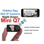 Spy Camera Q7 Mini Night Vision Wifi IP Camera Voice with Video Recorder