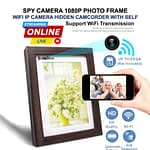 Spy Camera HD Photo Frame Live Wifi IP Cam Hidden Camcorder with Self