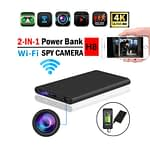 Spy Camera 4K Powerbank H8 Live Wifi IP Cam Video with Voice Recorder