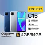 Realme C15 Qualcomm Edition 4GB/64GB Official Bangladesh