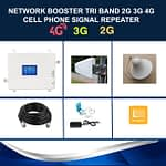 Network Booster 2G 3G 4G LTE Tri Band Cell Phone Signal Repeater