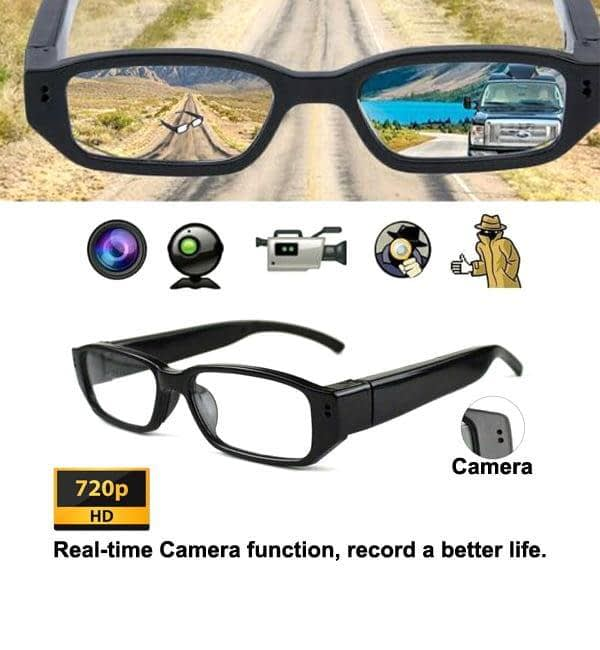 Spy Camera Digital Eyewear Glass Cam Video with Voice Recorder | Sale Market BD