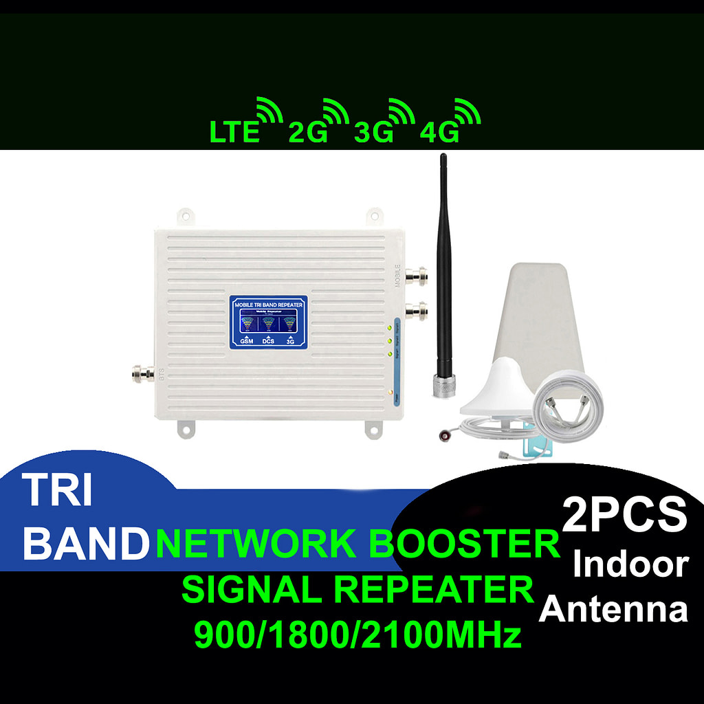 Network Booster 2G 3G 4G LTE Tri Band Cell Phone Signal Repeater | Sale Market BD
