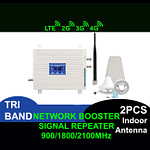 2G 3G 4G LTE Tri Band Network Booster Cell Phone Signal Repeater | Sale Market BD