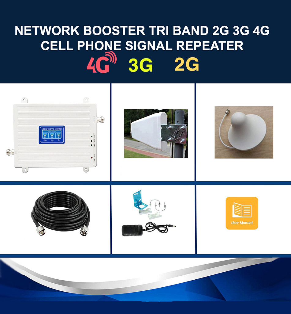Network Booster 2G 3G 4G LTE Tri Band Phone Signal Repeater | Sale Market BD