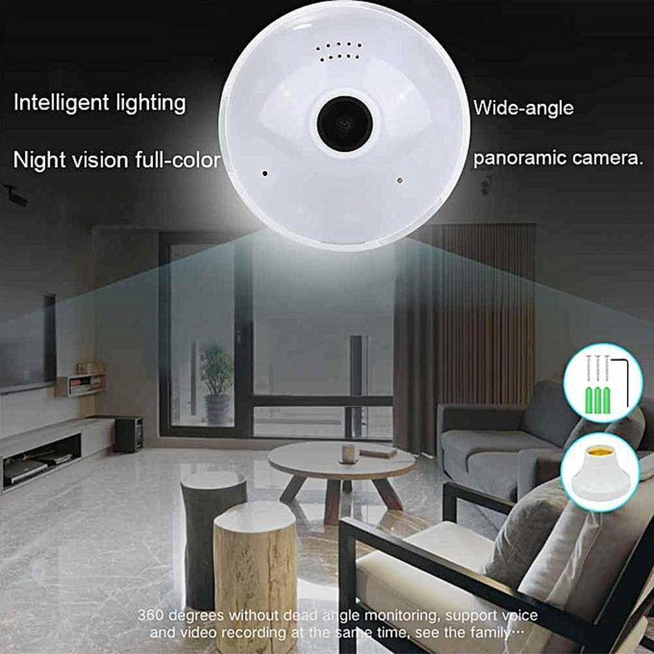 Spy Camera Led-Bulb 360° Panoramic Wifi IP Camera 5in1 View | Sale Market BD