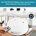 Spy Camera Smoke Detector Hidden Video Recorder Nanny Cam Motion Detected