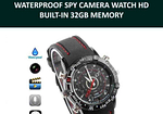 Spy Camera Watch HD Waterproof 32GB Memory Video with Voice Recorder